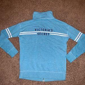 Victoria's Secret blue zip up sweater sweatshirt S